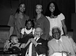 The family with Buck O'Neil